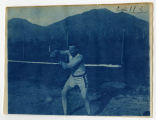 Athlete throwing shot-put. Duplicate of 1:09:04, ACU, 1905