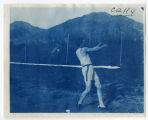 Track and Field, Man swinging ball on rope. Duplicate of 1:09:05 and 1:09:06, ACU, 1905