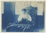 Woman sewing seams. Duplicate of 1:13:01, ACU, 1905