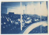 Auditorium, men and Women in balcony, possibly a choir, taken from balcony. Duplicate of 1:18:11,...