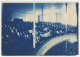 Auditorium, men and Women in balcony, possibly a choir, taken from balcony. Duplicate of 8:248,...