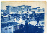 Circus parade, downtown Logan, intersection of Main and Center, 1901