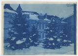 Old Main, north wing in winter. Duplicate of 1:13:11, ACU, 1896-1916