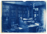 Possibly the President's Office or English Library(?), with old typewriter and desk, ACU, 1896-1916
