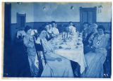 Women at formal dinner, ACU, 1896-1916
