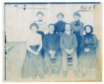 Portrait of two men and five women, ACU, 1896-1916