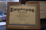 Kaung Lay's employee of the month certificate