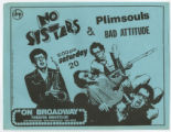 No Sisters, Plimsouls, and Bad Attitude, San Francisco, Undated