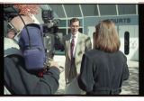Cache County attorney, Scott Wyatt, talks to reporters about the trespassing incident at St....