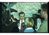 Cache County Attorney Scott Wyatt speaks to the media after preliminary trial for the three...