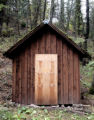 Wooded, boarded outbuilding