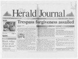 Trespass forgiveness assailed