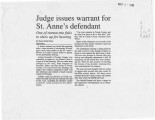 Judge issues warrant for St. Anne's defendant