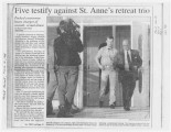 Five testify against St. Anne's retreat trio
