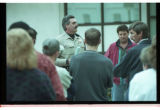 Cache County Sheriff, Brian Locke, talks to parents of trespassing youth -Image 1 of 5