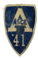 Blue patch saying ASCE