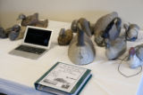 Table display for the Great Salt Lake Wetlands History Project eventat the Bear River Migratory Bird Refuge on May 6,...