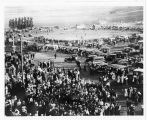 Crowds gathered to see the Liberty Bell in Cache Junction, Utah on July 11, 1915