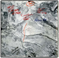 Aerial photographs covering an area from the Idaho/Utah border over, Franklin, ID, the Wasatch-...