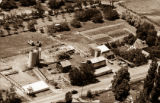 Aerial view of Buttercup Dairy, North Logan, Utah