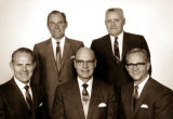 Elmo Packer, Clavel Haslem, Roice Anderson, Golden Stettler, and Spencer Daines - 1963 Bishopric