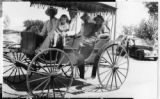 Victor Israelsen and family in a buggy