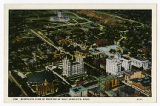 Postcard of Bird's Eye View of Portion of Salt Lake City Utah