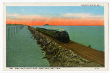 Postcard of Going to Sea by Rail, Great Salt Lake cutoff