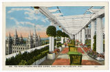 Postcard of The Temple Towers from Roof Garden, Hotel Utah