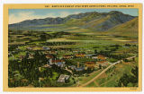 Postcard of Bird's Eye view of Utah State Agricultural College, Logan Utah