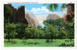 Postcard of Temple of Sinawava, Zion National Park