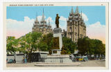 Postcard of Brigham Young Monument