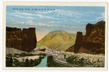 Postcard of Castle Gate Utah, on line of D.R.G.R.R