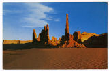 Postcard of The Totem Pole, Monument Valley