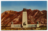 Postcard of This is the Place Monument, Emigration Canyon