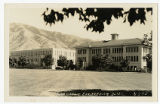 Real Picture Postcard Commons and Engineering Bldg. U.S.A.C