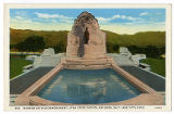 Postcard of Mormon Battalion Monument, Utah State Capitol Grounds
