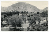 Real Picture Postcard of Mormon Temple at a distance