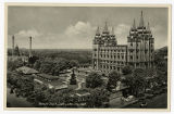 Postcard of Temple Block, Salt Lake City Utah ca. 1920