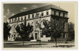 Real Picture Postcard of Library Bldg. U.S.A.C., Logan