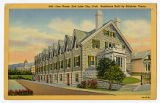Postcard of Lion House, Salt Lake City Utah, Residence built by Brigham Young