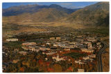 "Postcard of ""Utah State University, The Campus in Fall in the Rocky Mountains"", ca. 1985"