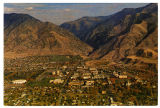 "Postcard of ""Utah State University, The Campus in the lap of Logan Canyon Recreation..."