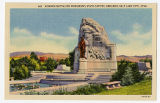 Postcard of Mormon Battalion monument, State Capitol Grounds, Salt Lake City, UT