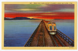 Postcard of Great Salt Lake Cut-off on the Great Salt Lake