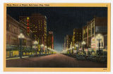 Postcard of Main Street at night in Salt Lake City, UT