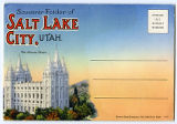 Souvenir album of Salt Lake City, UT, featuring inside of Tabernacle, Temple Square, Temple, Hotel...