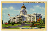 Postcard of Front of Utah State Capitol building, Salt Lake City, UT