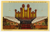 Postcard of Tabernacle Choir and inside of Tabernacle