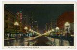 Postcard of Main Street at Night, Salt Lake City Utah